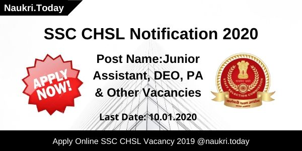 SSC CHSL Notification