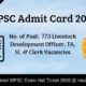 MPSC Hall Ticket
