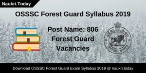 OSSSC Forest Guard Syllabus