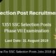 SSC Selection Posts Recruitment