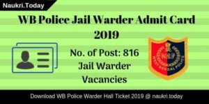 WB Police Jail Warder Admit Card