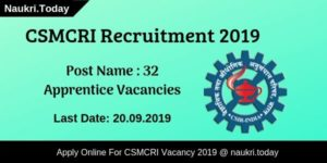 CSMCRI Recruitment