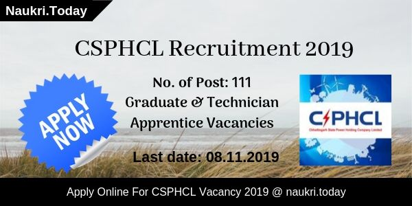 CSPHCL Recruitment