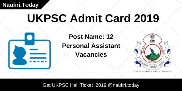 UKPSC Admit Card