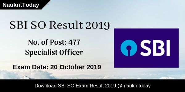 SBI SO Result