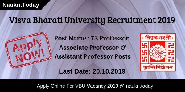Visva Bharati Recruitment