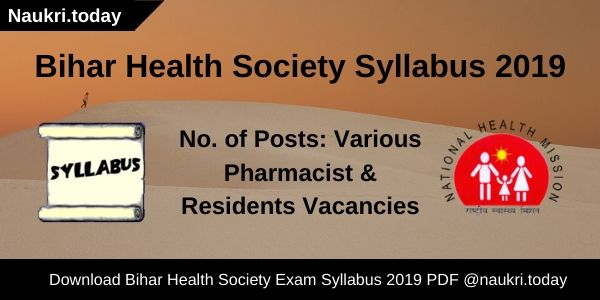 Bihar Health Society Syllabus