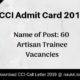 CCL Admit Card