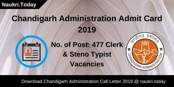 Chandigarh Administration Admit Card