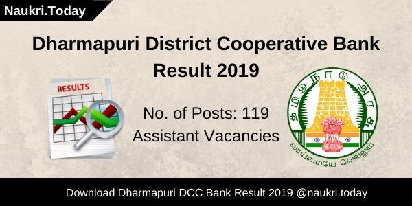 Dharmapuri District Cooperative Bank Result