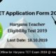 HTET Application Form