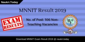 MNNIT Result