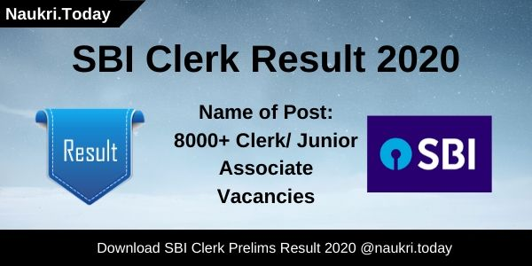 SBI Clerk Result