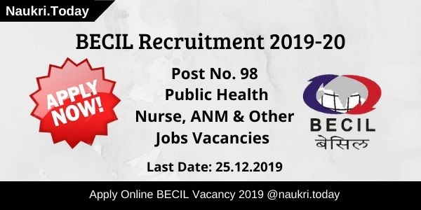 BECIL Recruitment 2019-20