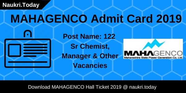 MAHAGENCO Admit Card 2019