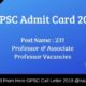 GPSC Admit Card
