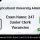 Gujarat Agricultural University Admit Card