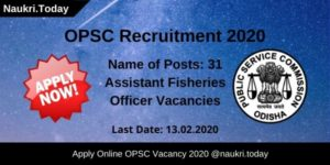 OPSC Recruitment 2020