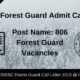 OSSSC Forest Guard Admit Card
