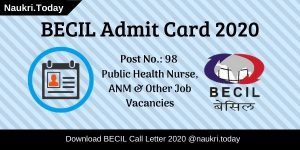BECIL Admit Card 2020