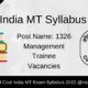 Coal India MT Syllabus