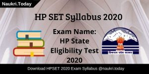 HP SET Syllabus