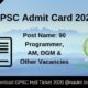 GPSC Admit Card 2020