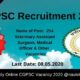 CGPSC Recruitment 2020