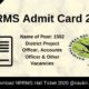 NRRMS Admit Card 2020