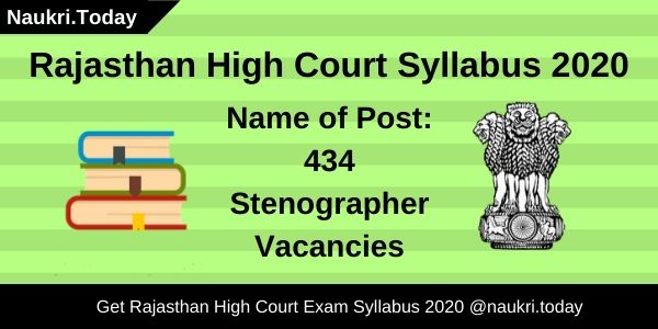Rajasthan High Court Syllabus