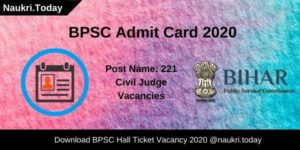 BPSC Admit Card 2020