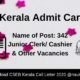 CSEB Kerala Admit Card